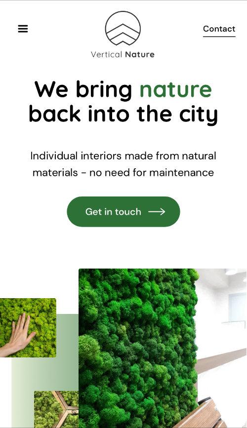 Vertical Nature Webflow Website