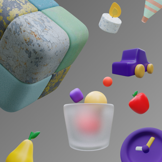 25+ multi-colored 3D icons inspired by objects you don't always come across