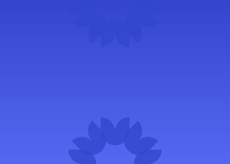 blue flower shape on blue background