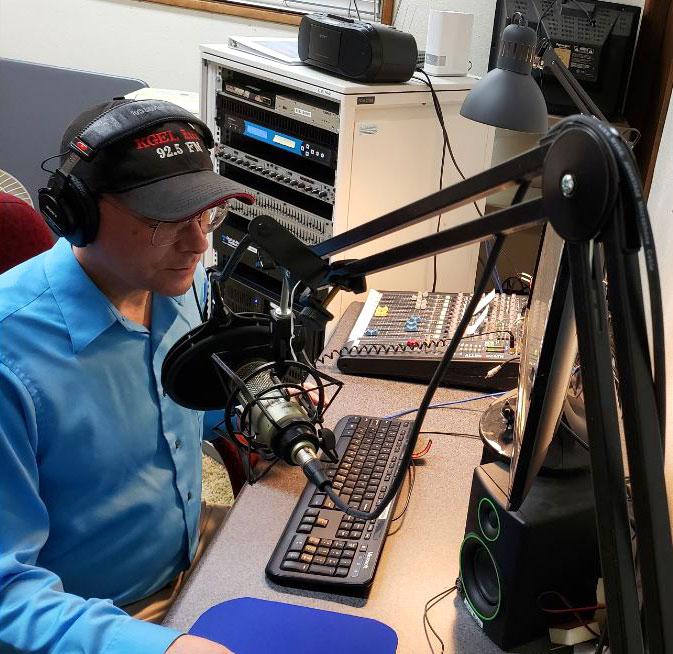 Bob Steingas in the studio