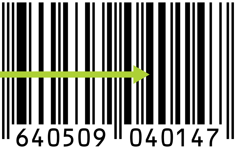 UPC barcode scanning direction