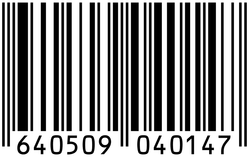A one-dimensional UPC bar code