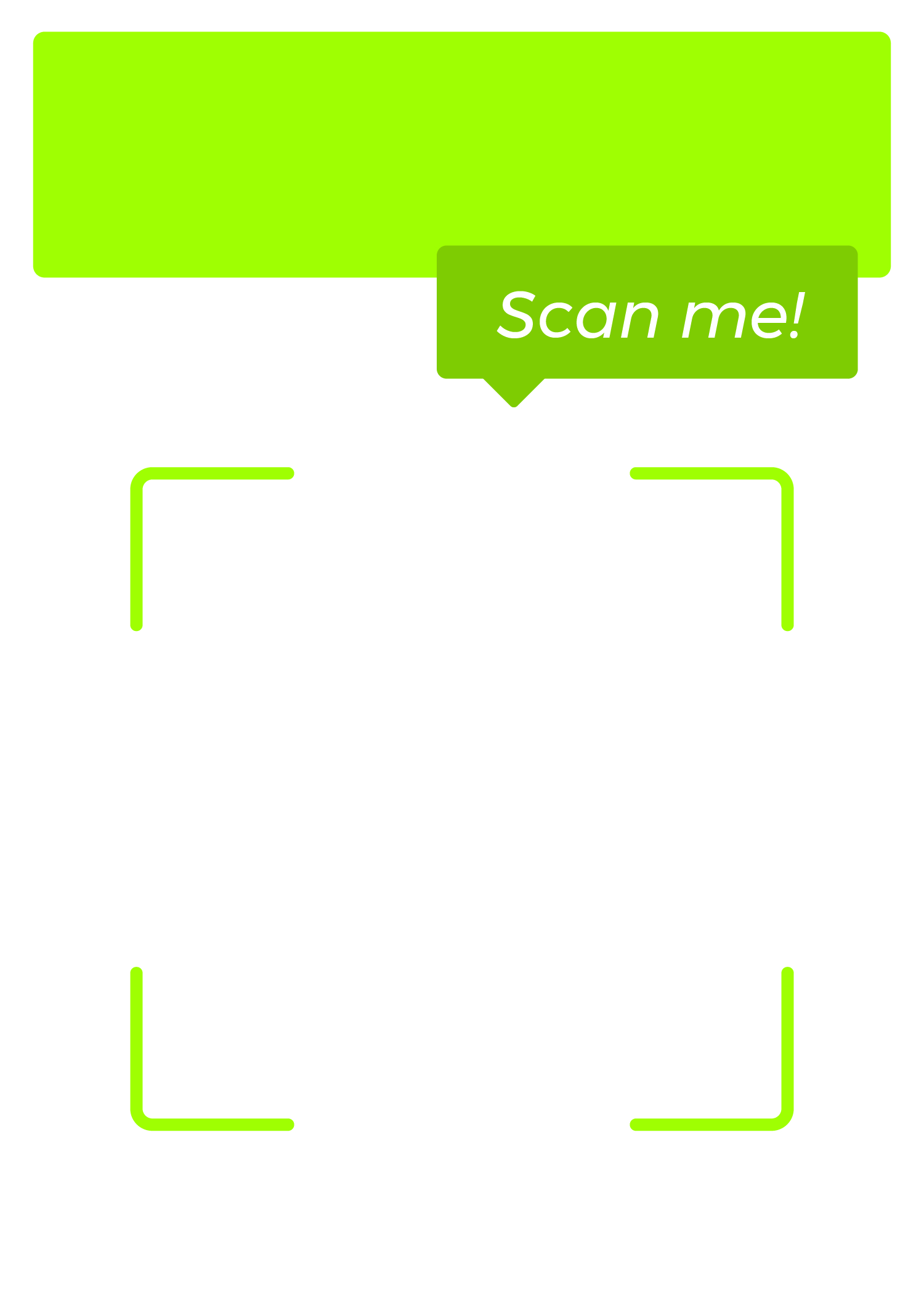 scan me vertical qr code template