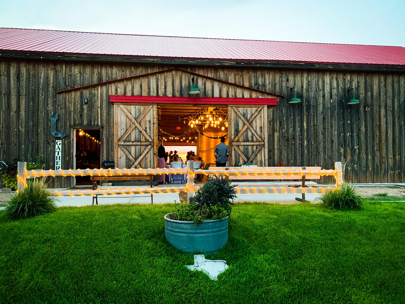 Front doors of the barn