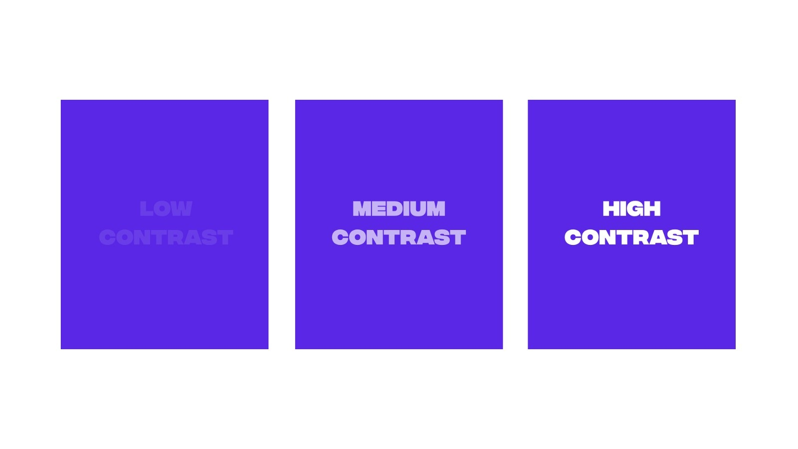 Create color contrast with your designs
