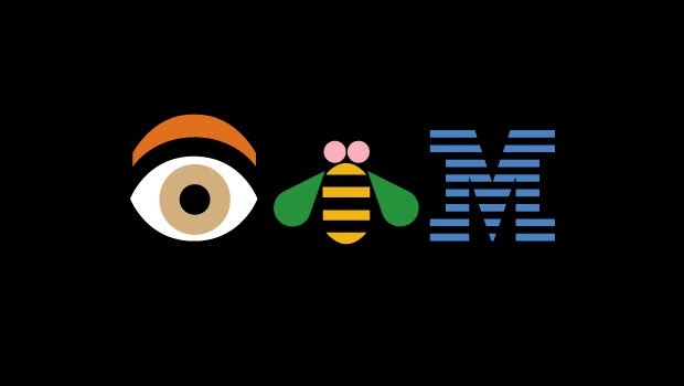 Paul Rand's popular Eye-Bee-M poster created in 1981 in support of IBM's motto, THINK.