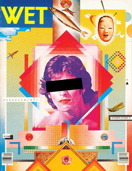 Cover for WET magazine designed by April Greiman (1979)