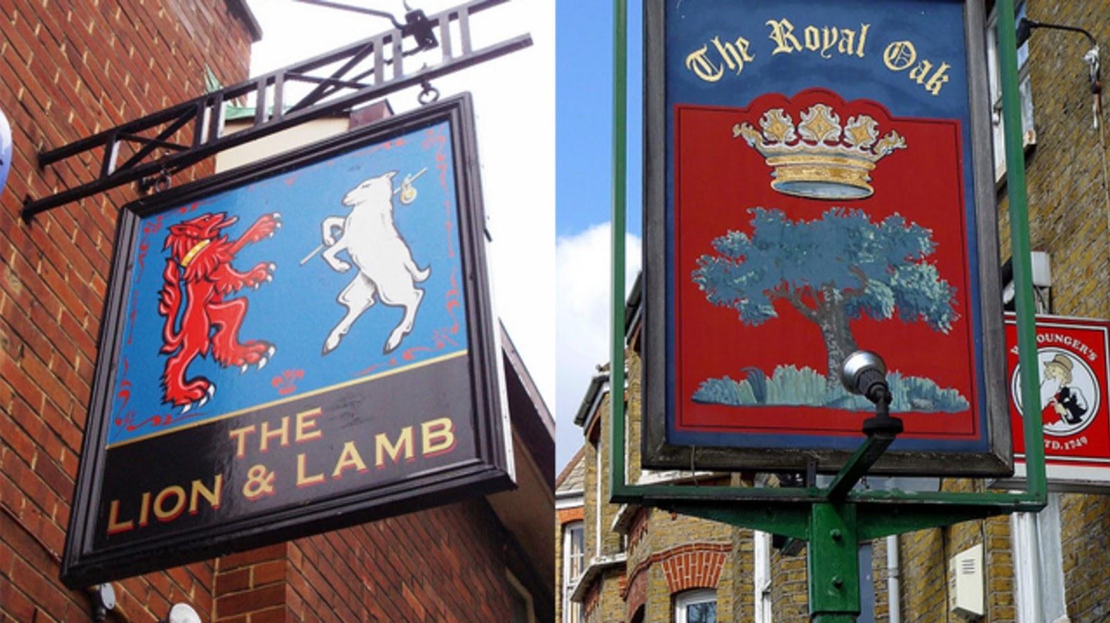 British pub signage