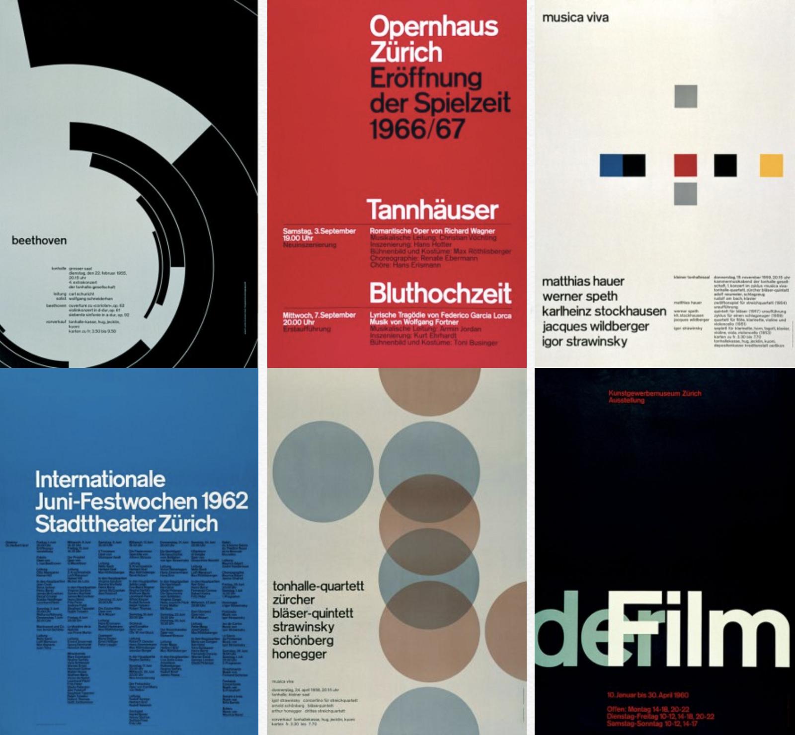 Poster designs by Josef Muller Brockmann
