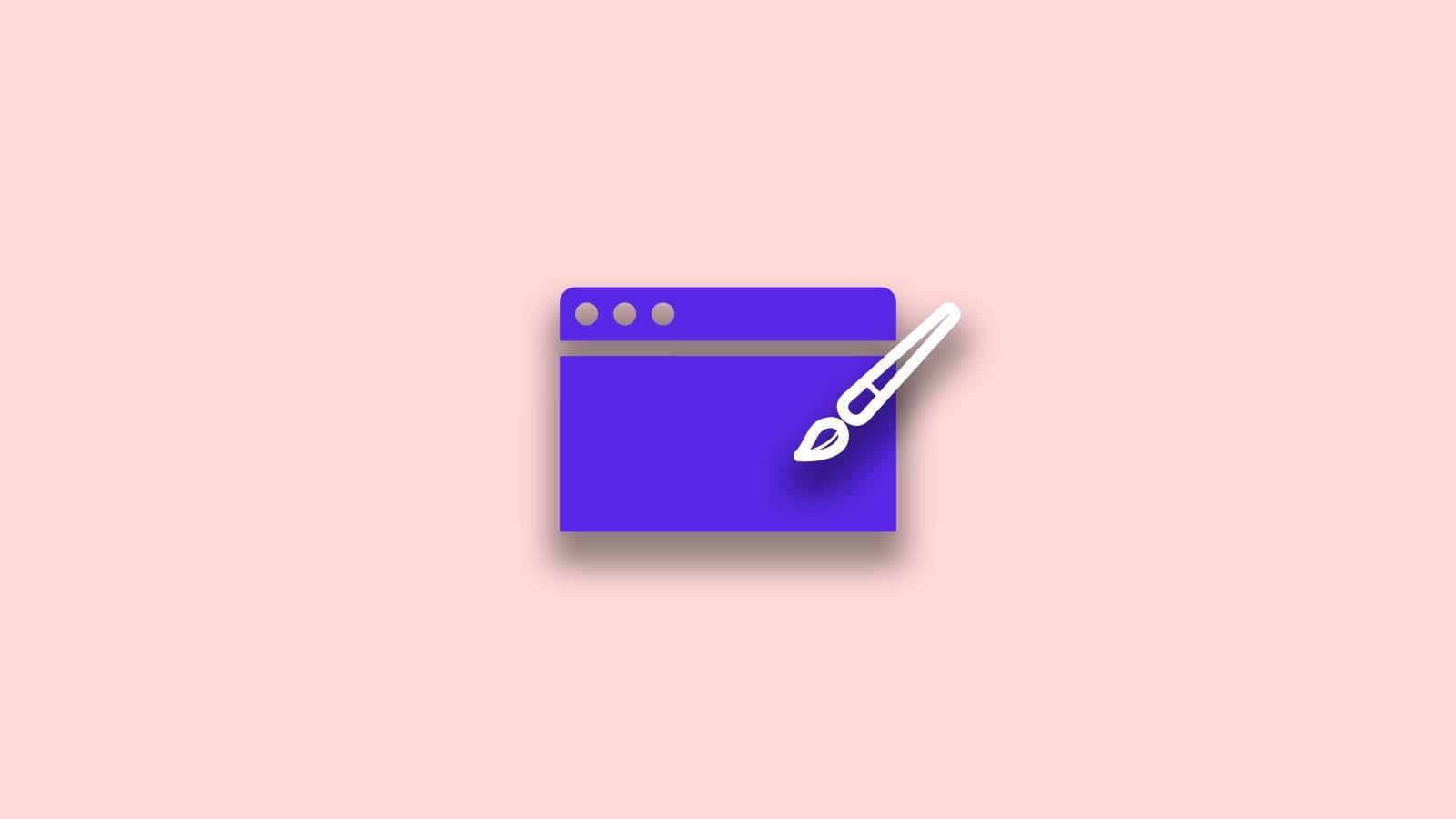 Paintbrush and web browser visualisation