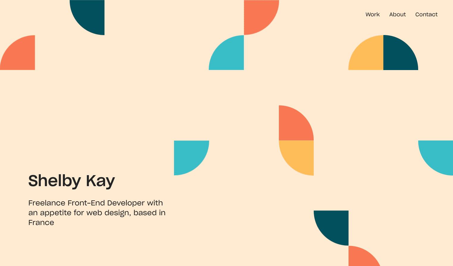 Shelby Kay's portfolio website