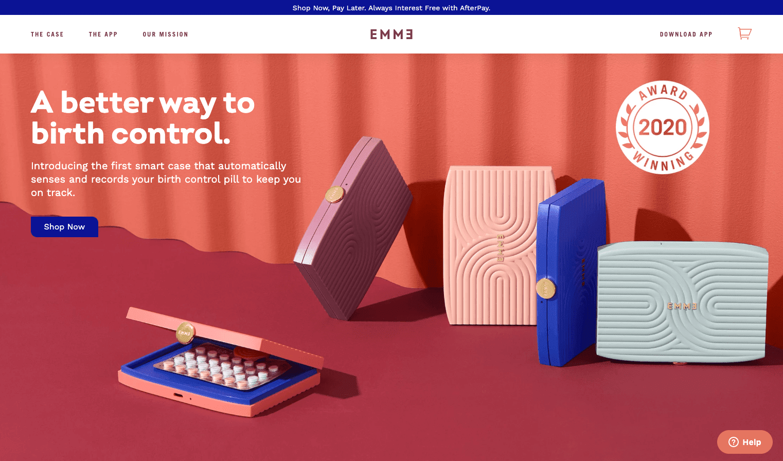 Emme webpage screenshot