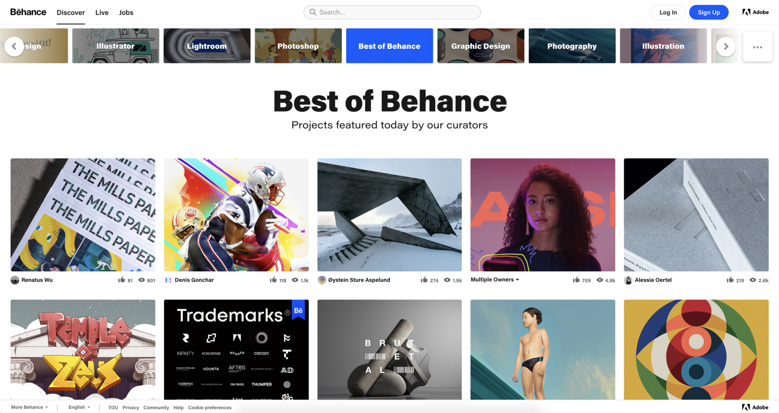 Best of Behance, projects featured today by our curators