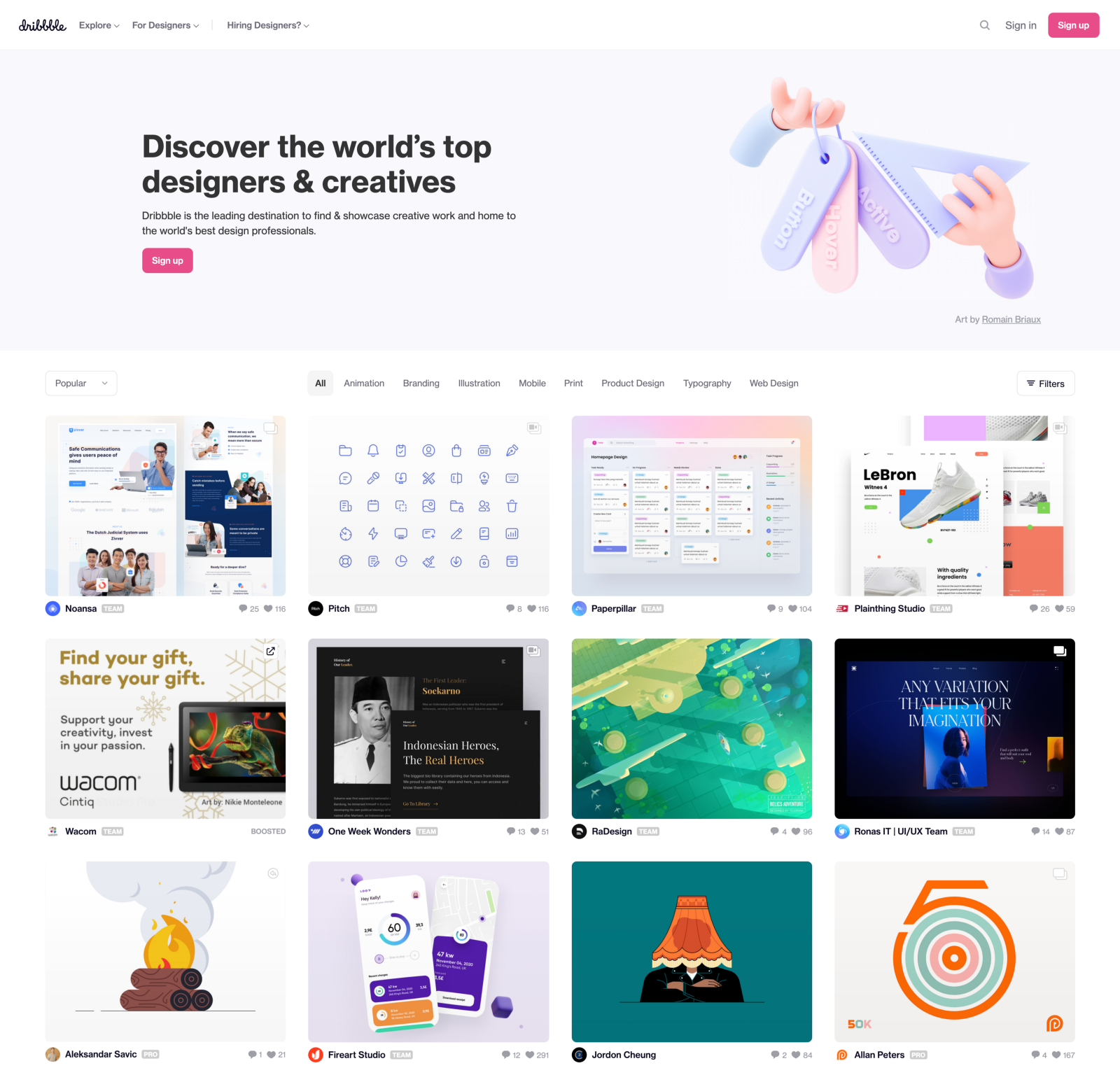 Dribbble: Discover the world's top designers and creatives
