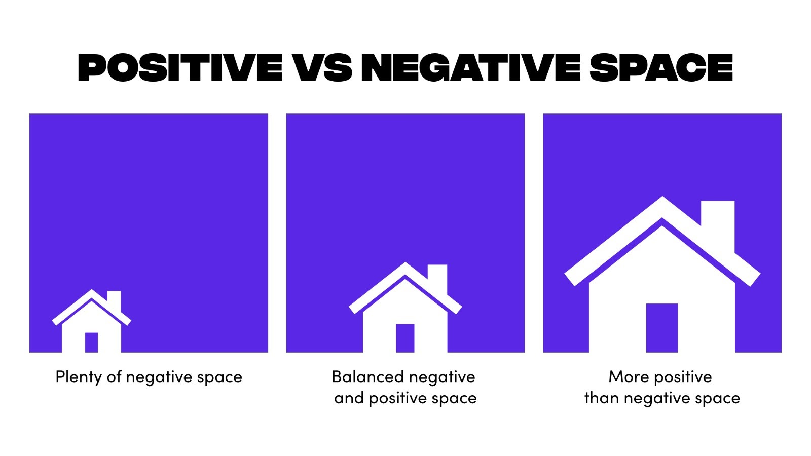 Examples of positive and negative space