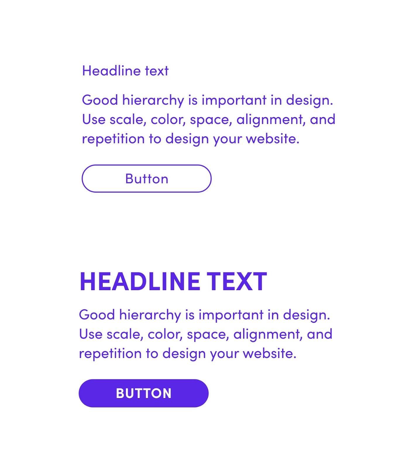 Bad vs good hierarchy in design