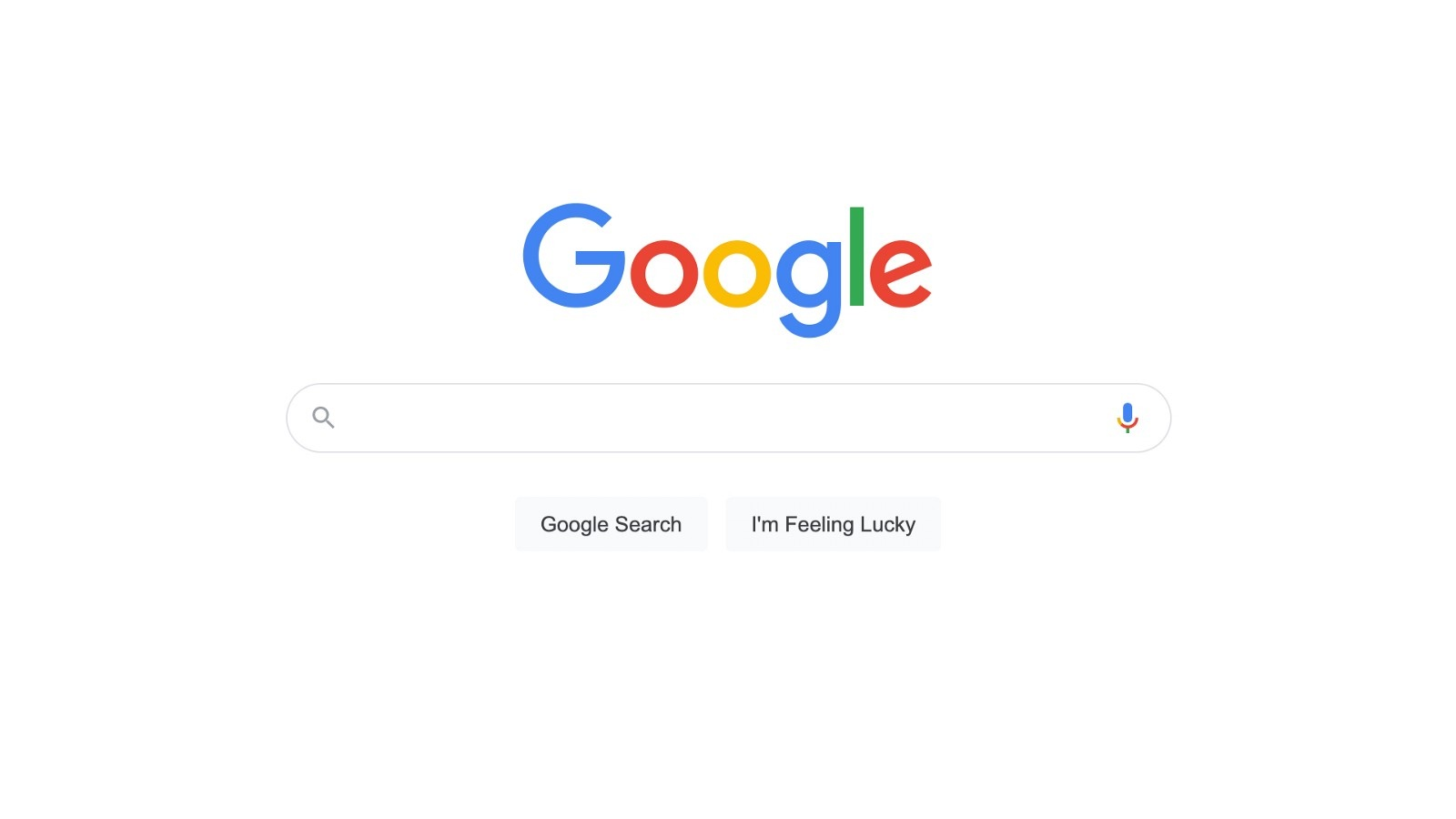 The Google homepage is an excellent example of minimal, non-distracting design