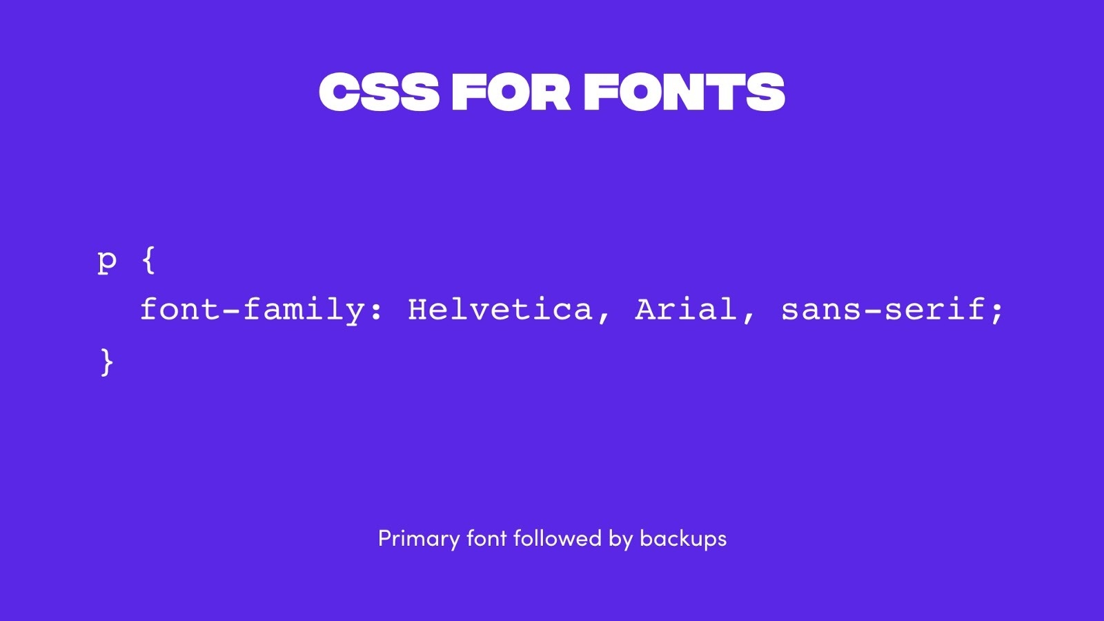 CSS example for adding backup fonts