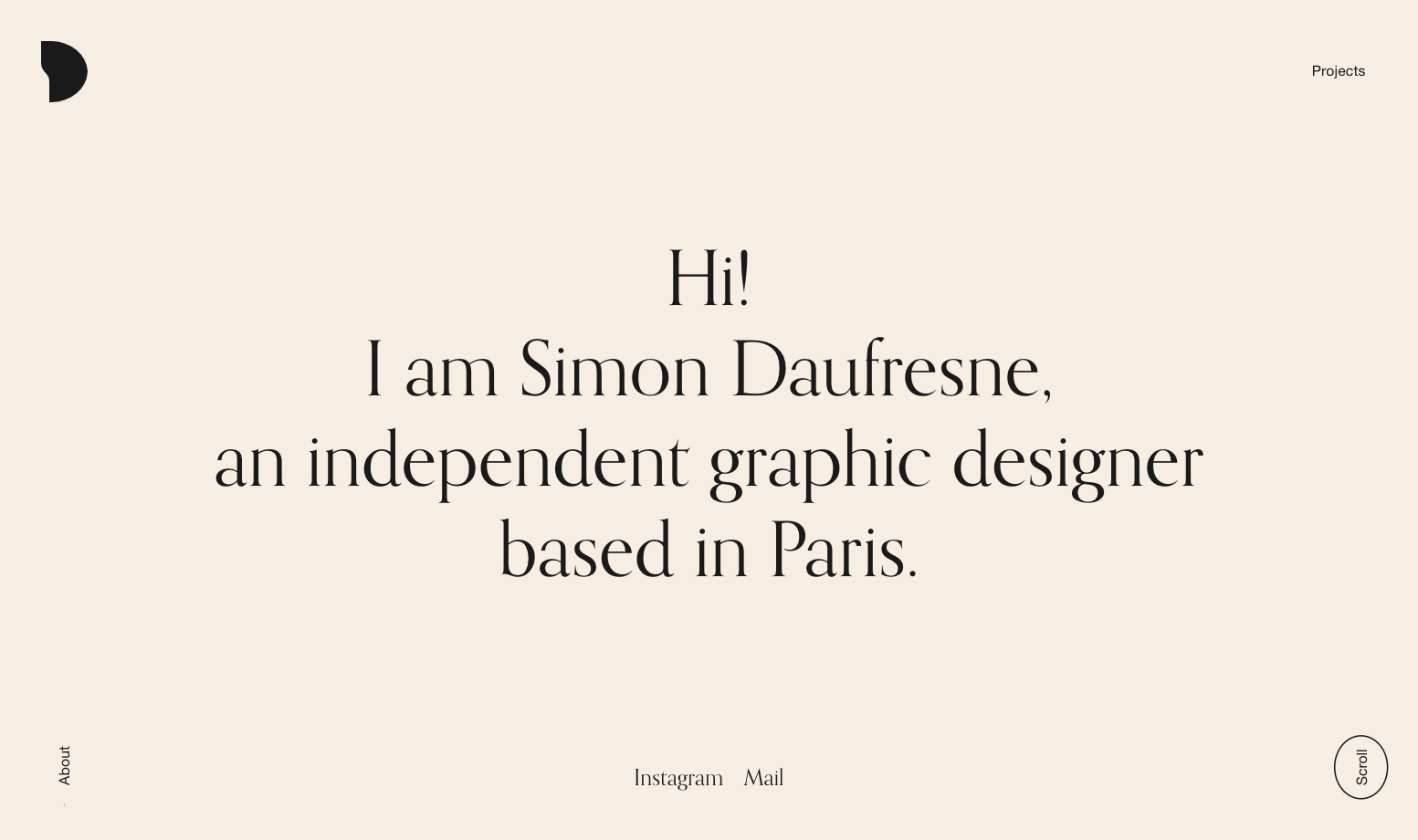 Simon Daufresne's portfolio website