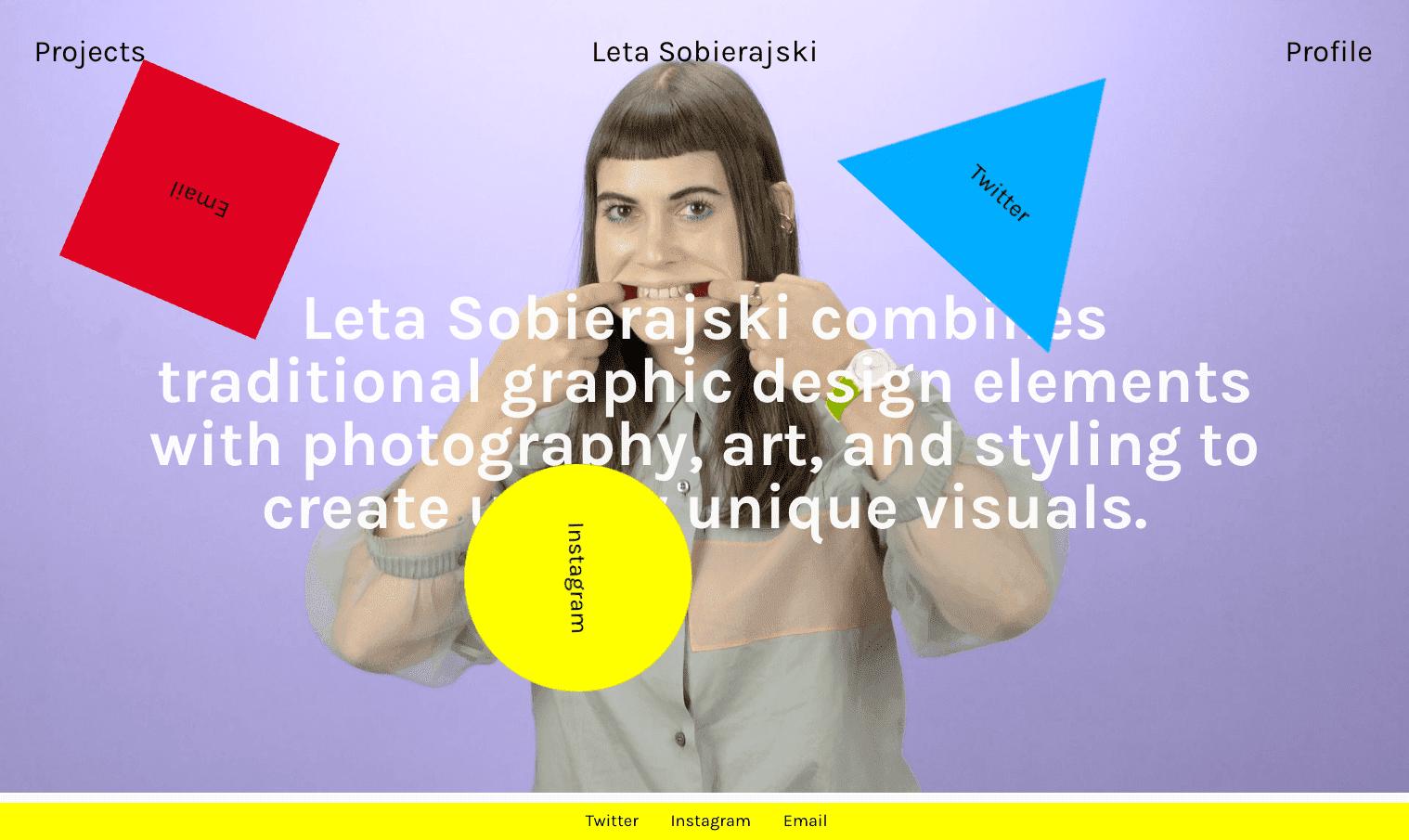 Leta Sobierajski's portfolio website