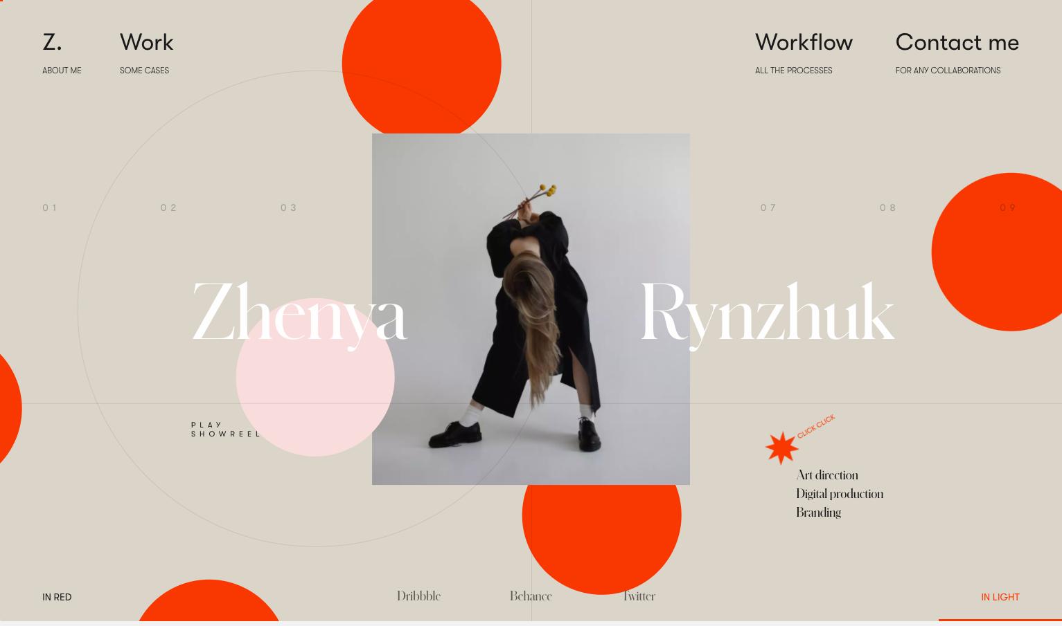 Zhenya Rynzhuk's portfolio website
