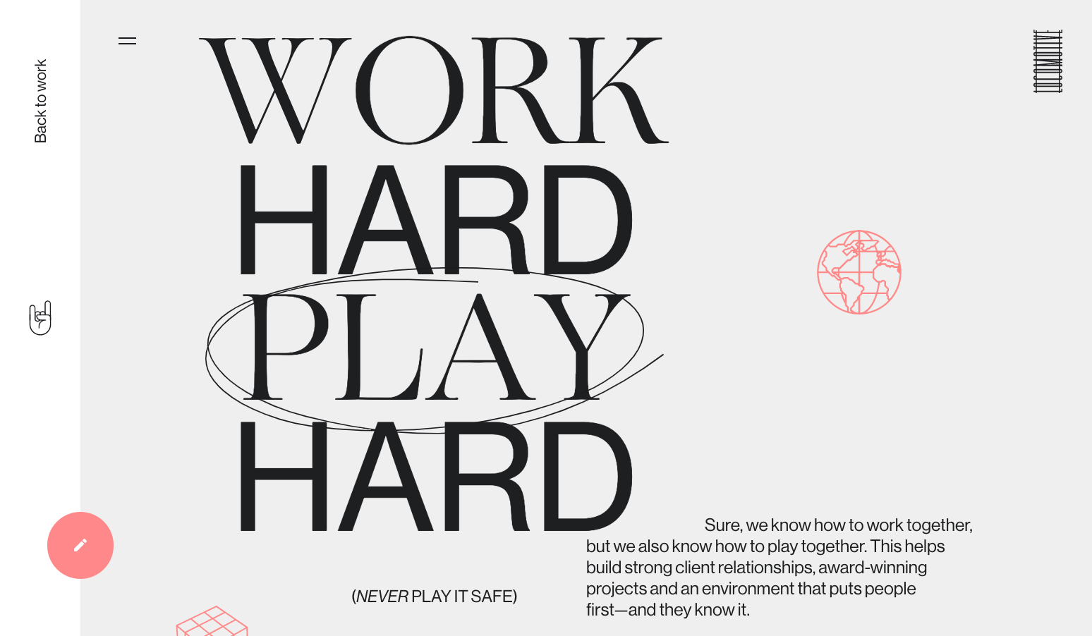 "Locomotive's message of ""work hard, play hard"" (emphasis on ""play"") stands loud and clear thanks to typography design."