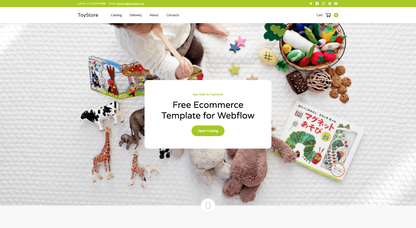 Toystore Webflow template