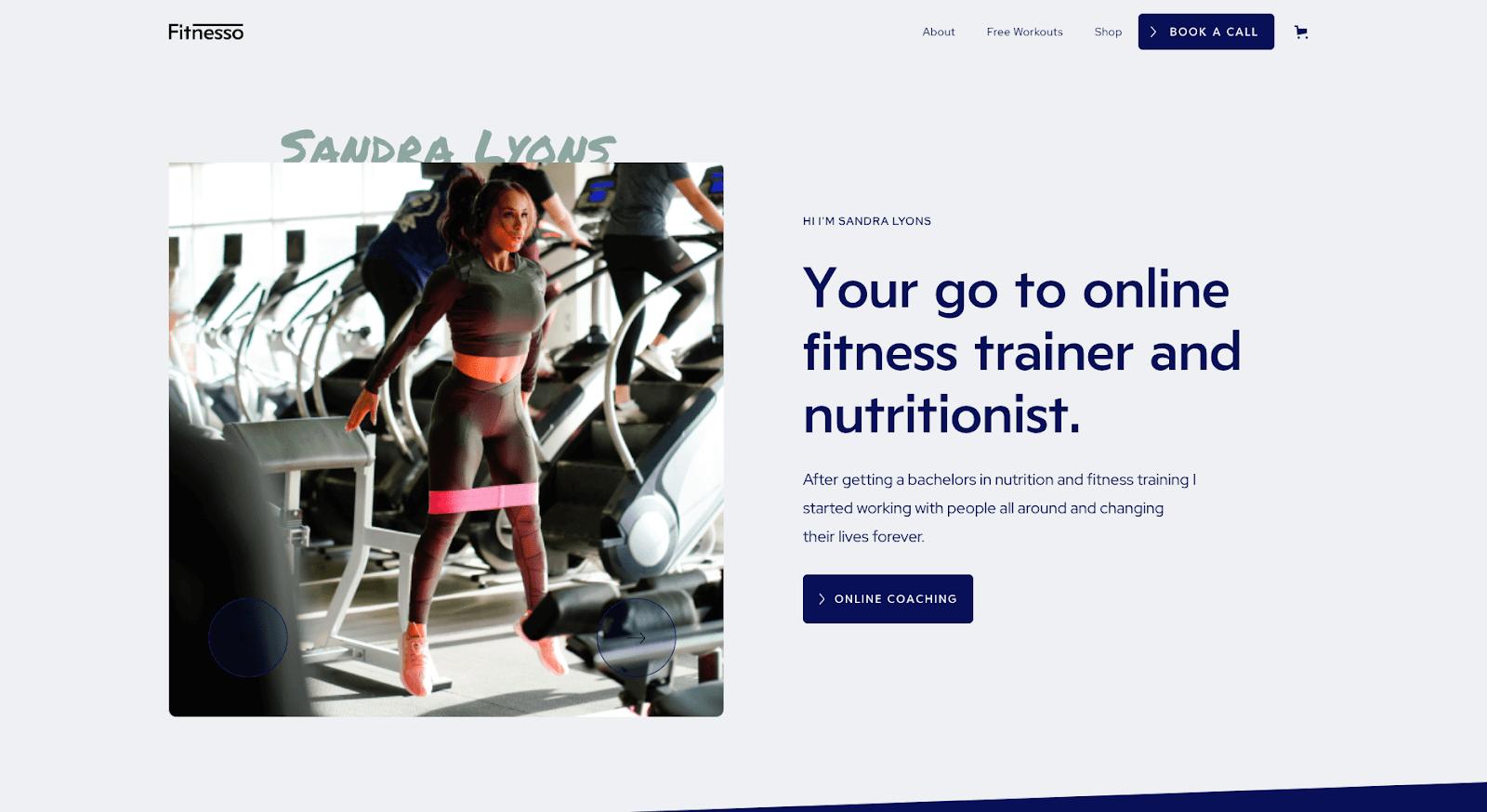 Fitnesso Webflow template