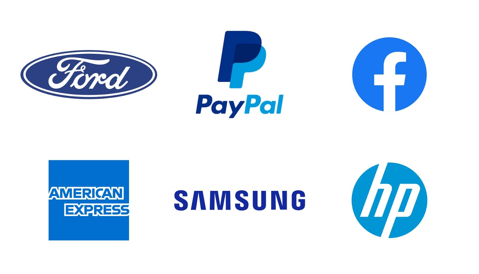 Example of logos using blue