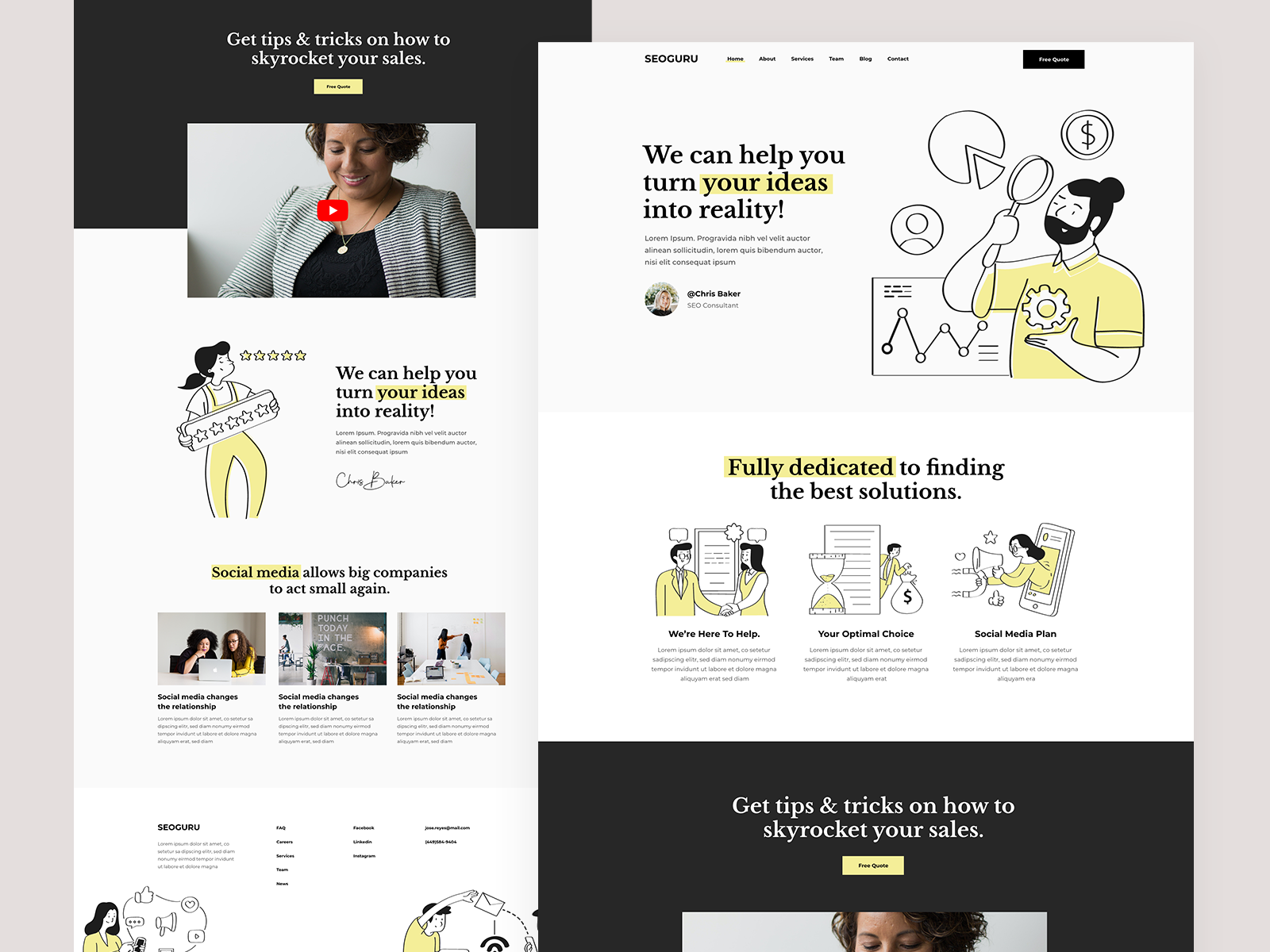 An example of yellow in web design (source: Marina Pavlović)
