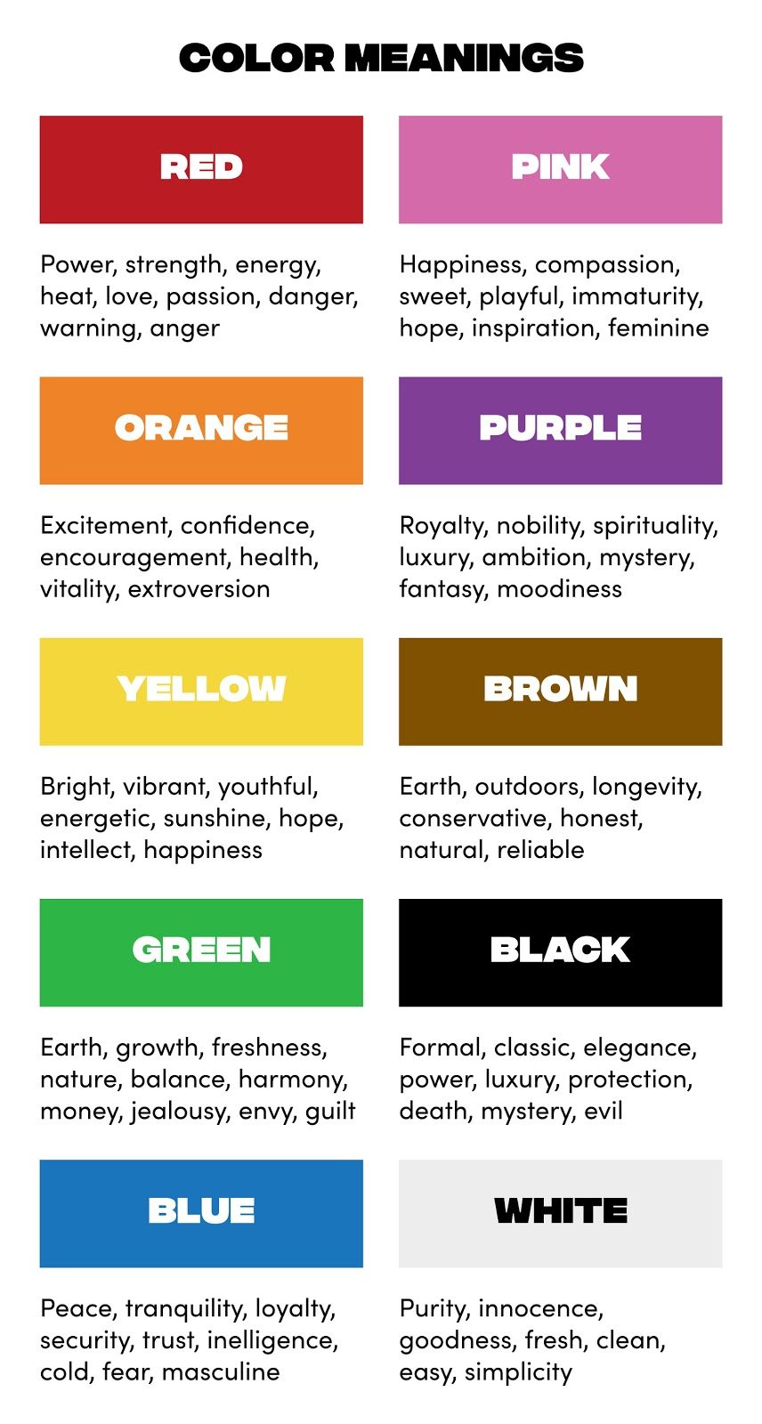 10 colors and their meanings