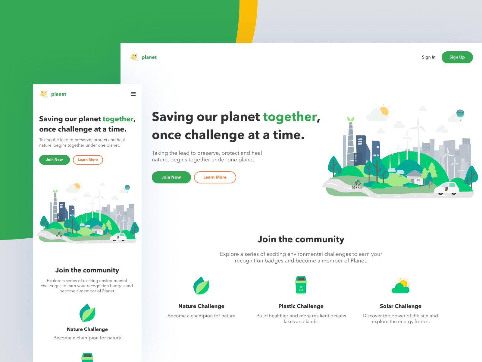 An example of green in web design (source: Manoj Rajput)