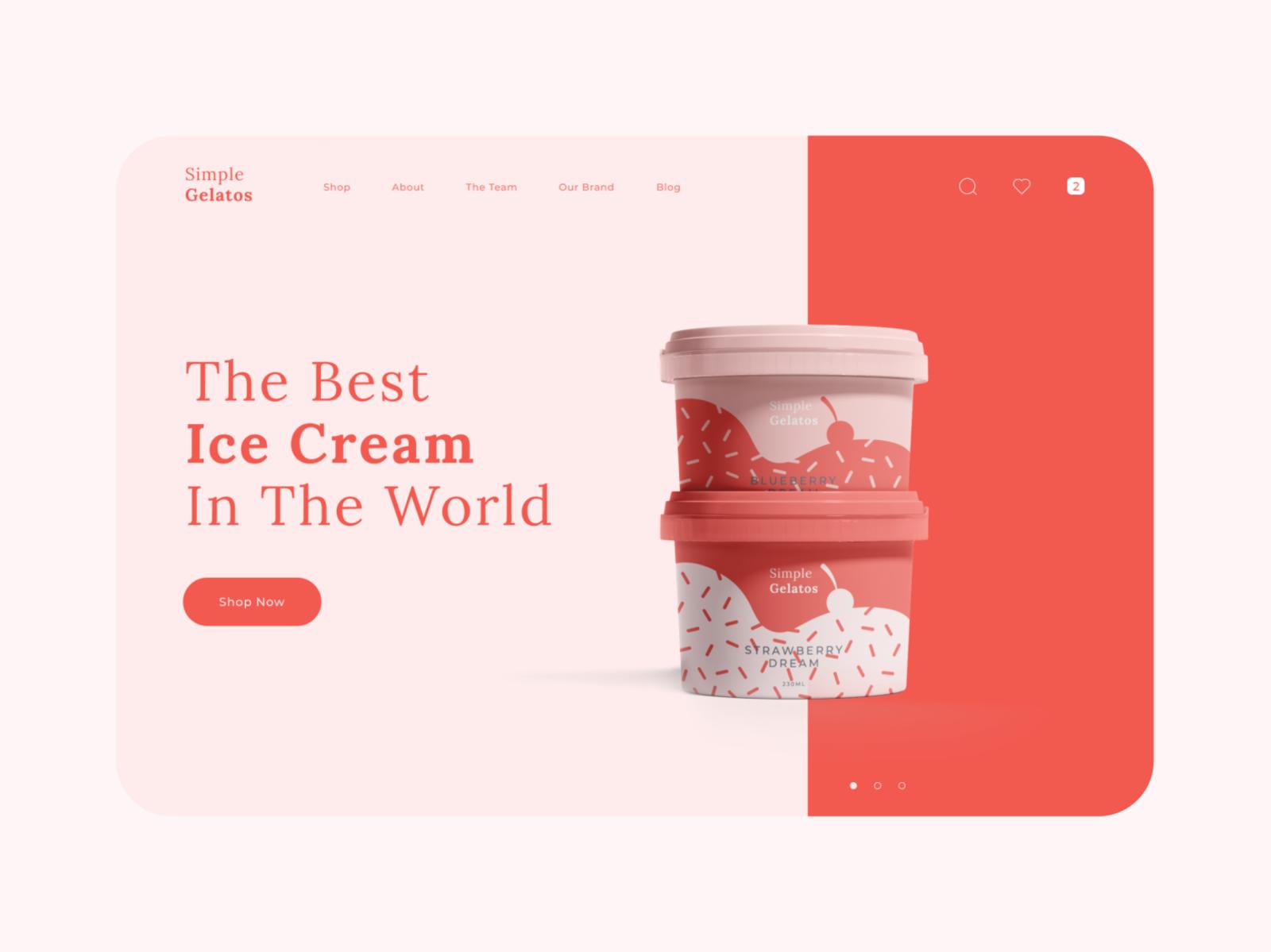 Example of using pink in web design (source: Bruno Vasconcelos)
