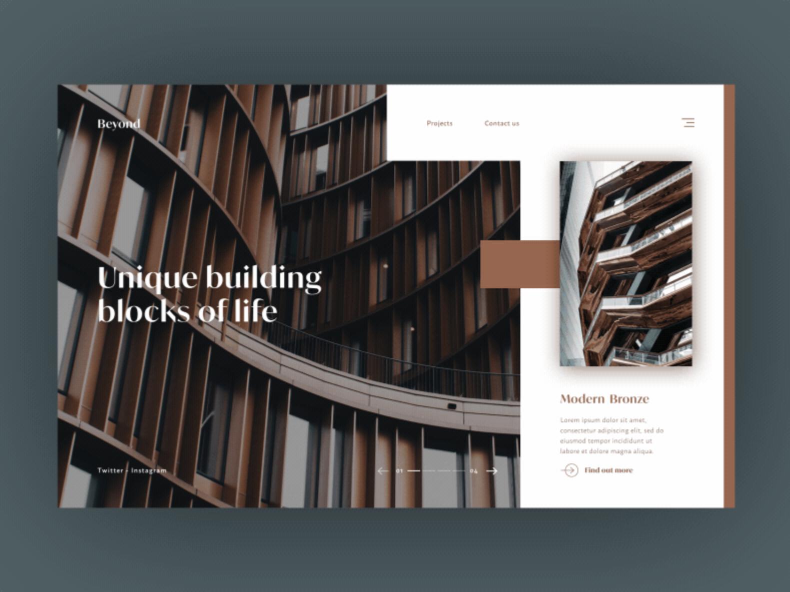 Example of using brown in web design (source: Daniel Hurst)