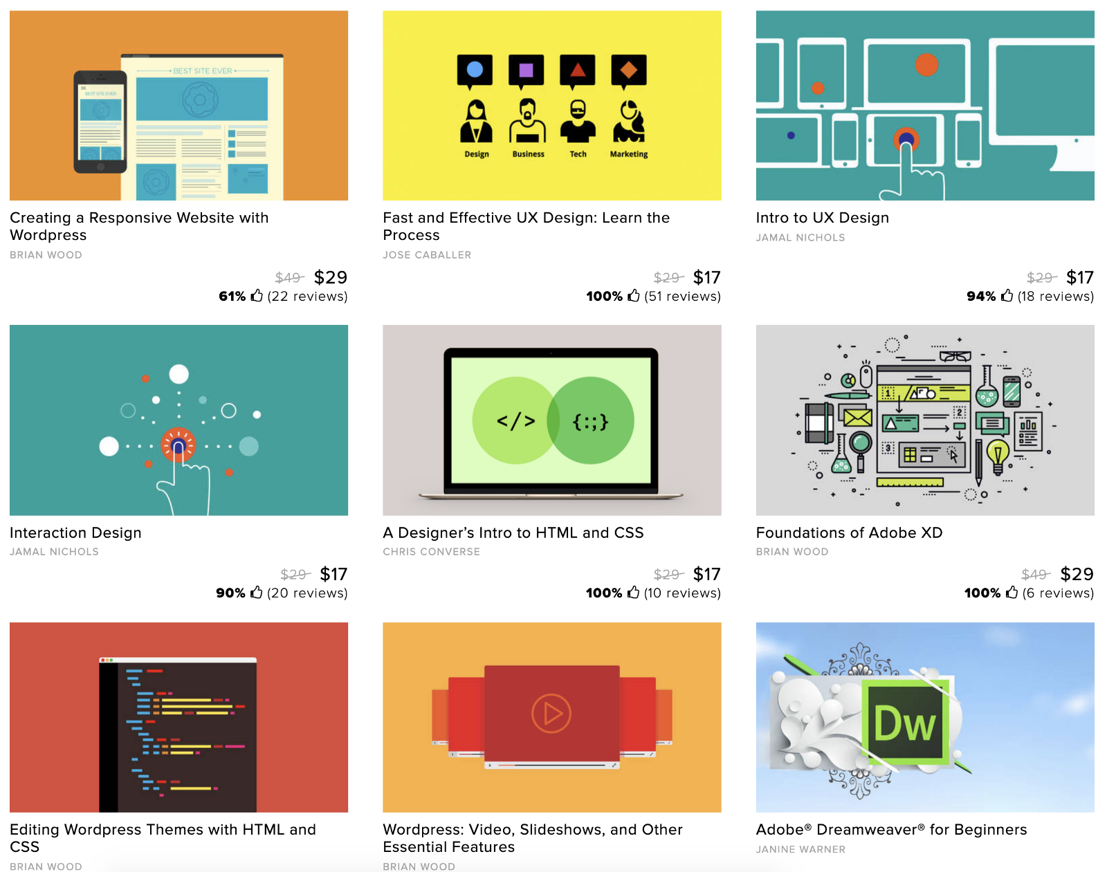 CreativeLive courses on UX design