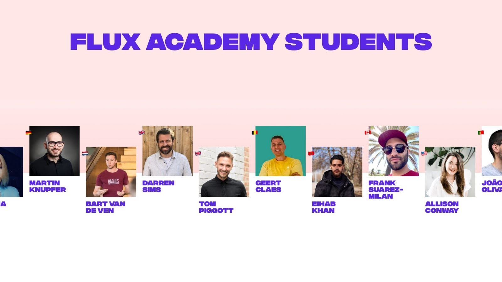 Flux Academy students from all over the world