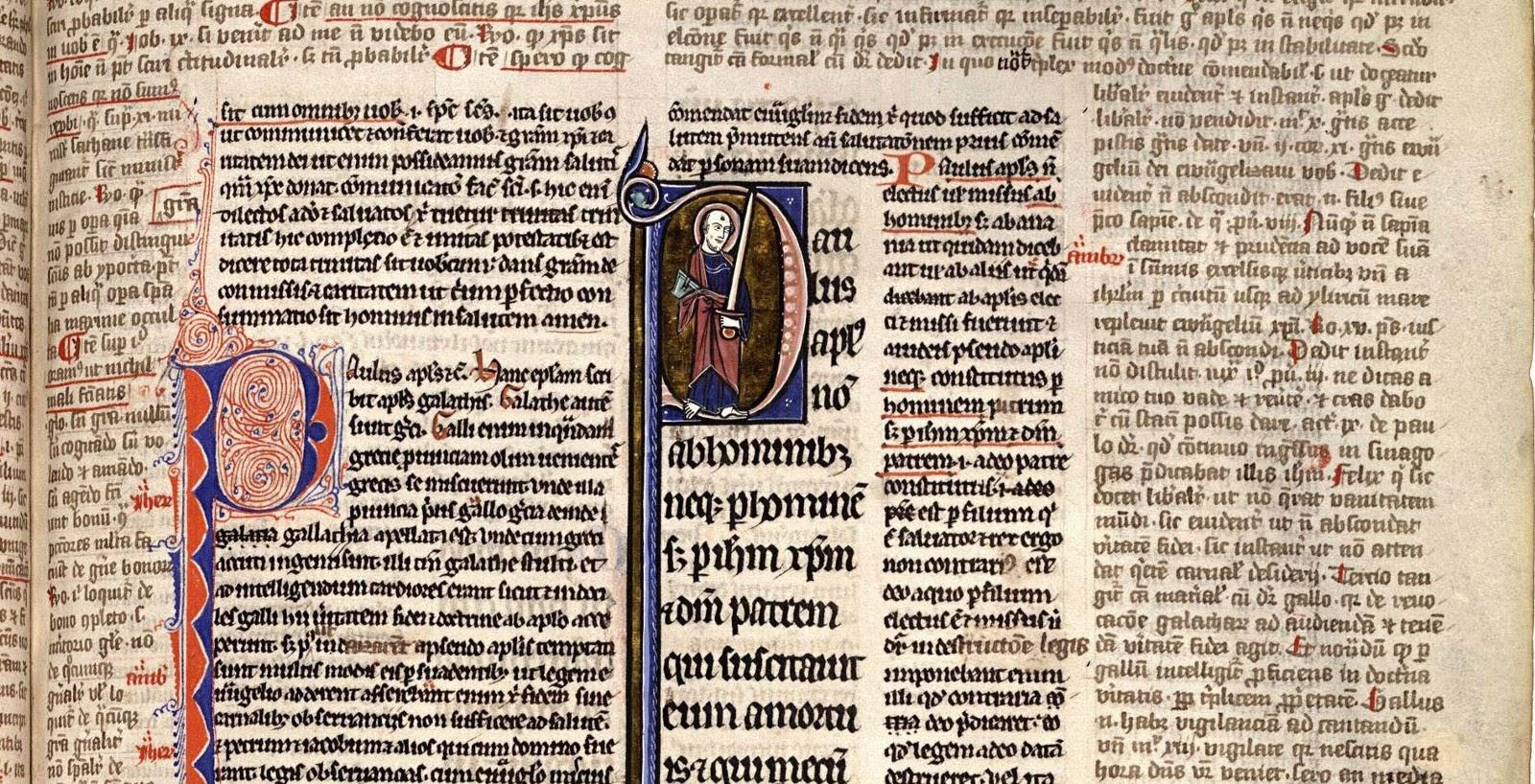 Early manuscript design, c. 1100–1160 (source: Medieval Books)