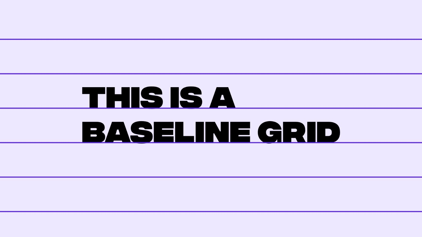 Example of a baseline grid