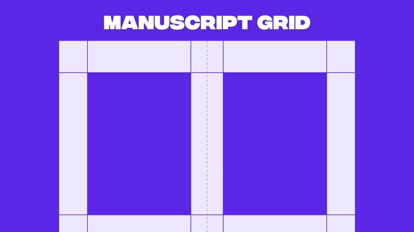 Example of a manuscript grid