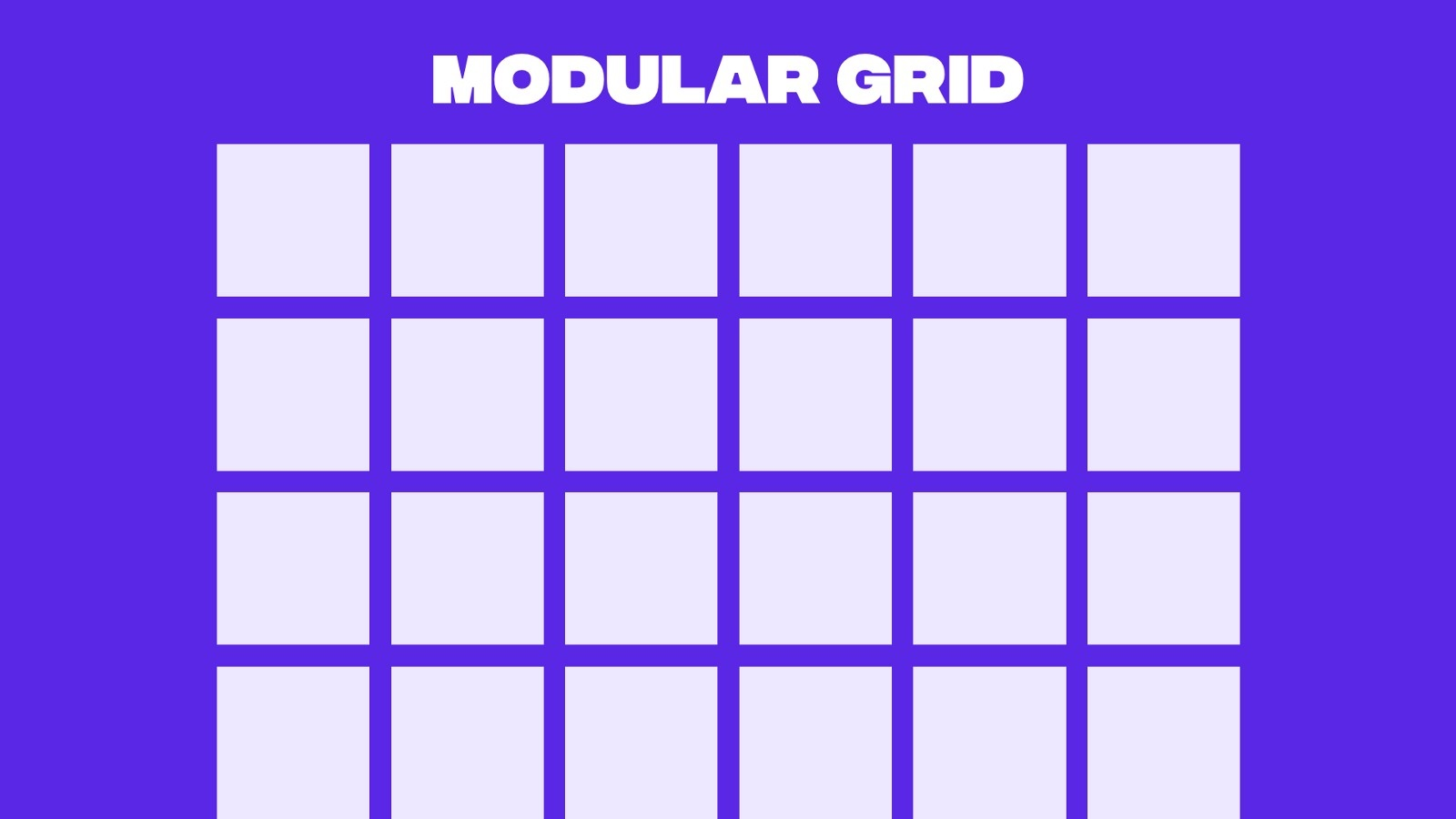 Example of a modular grid