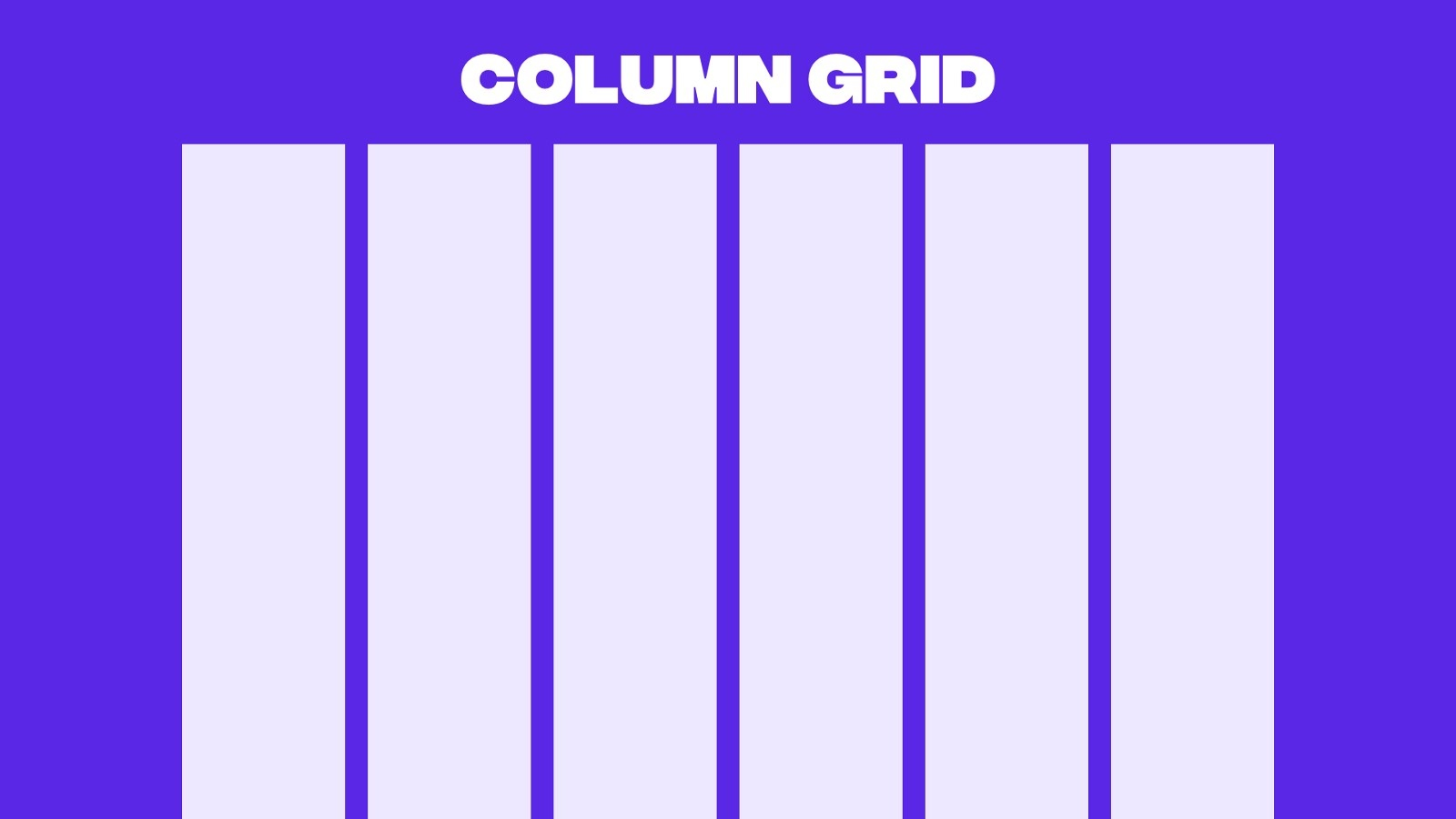Example of a column grid