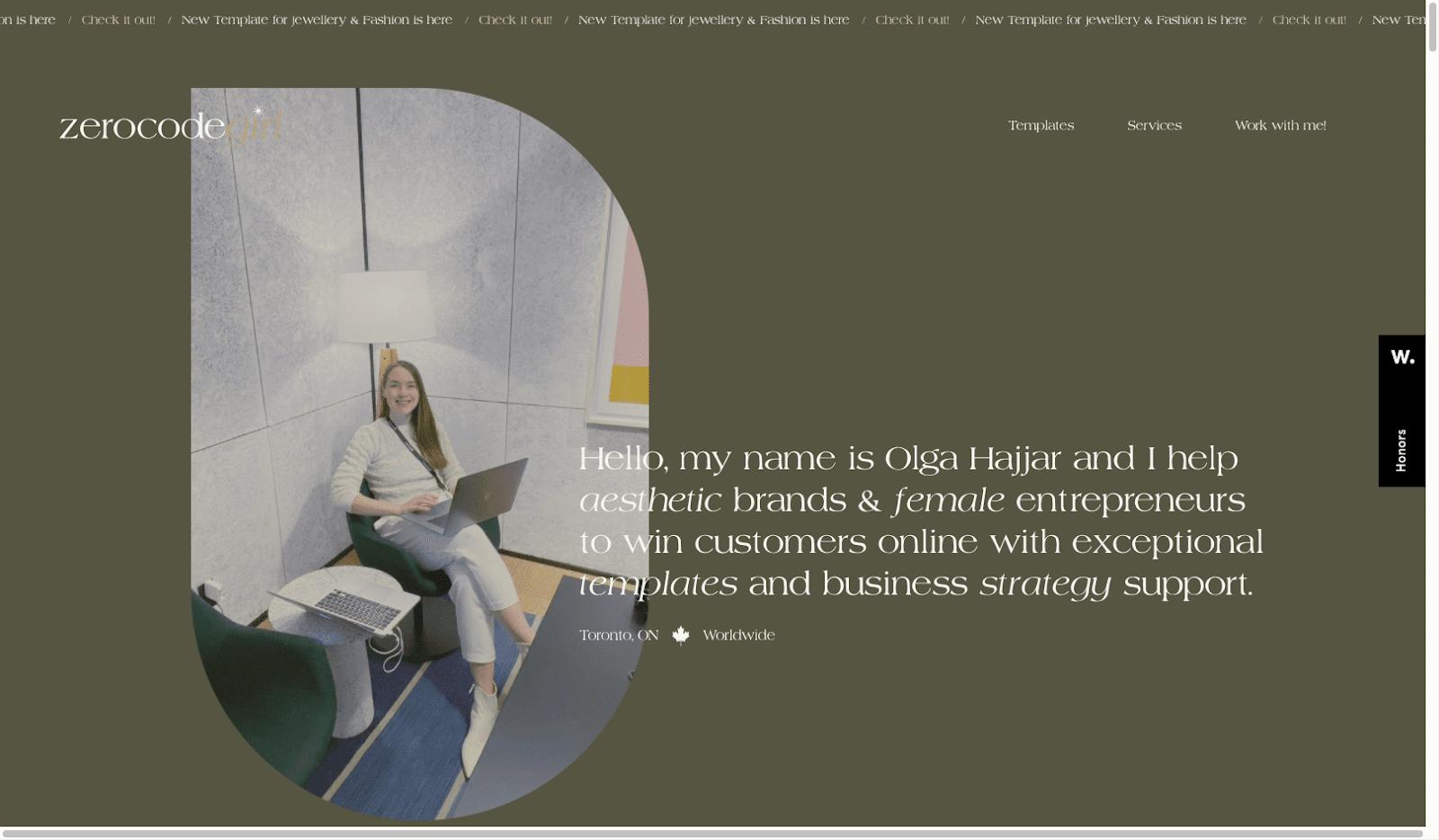 Screenshot of Zerocodegirl.com