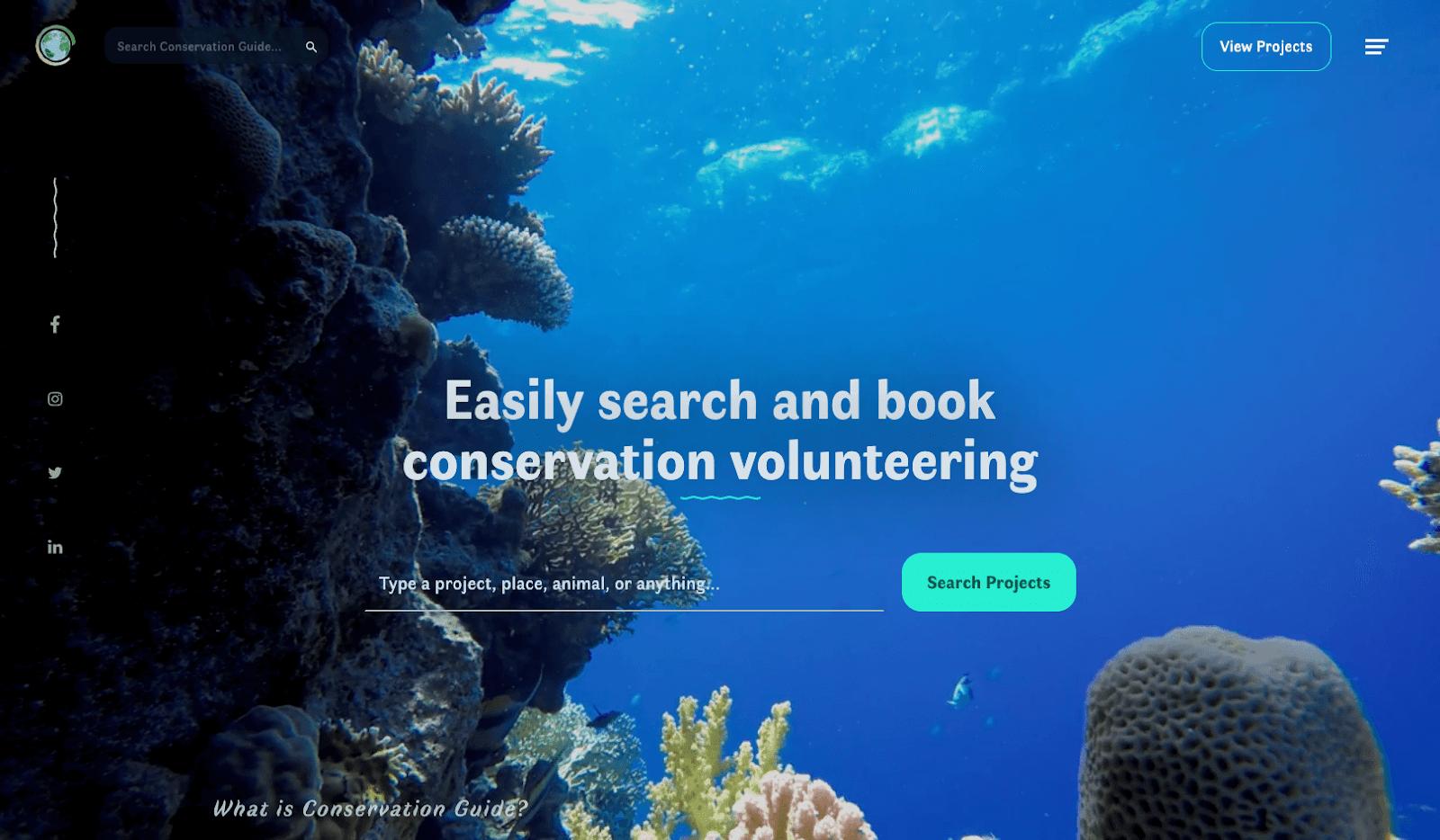 Screenshot of conservationguide.com