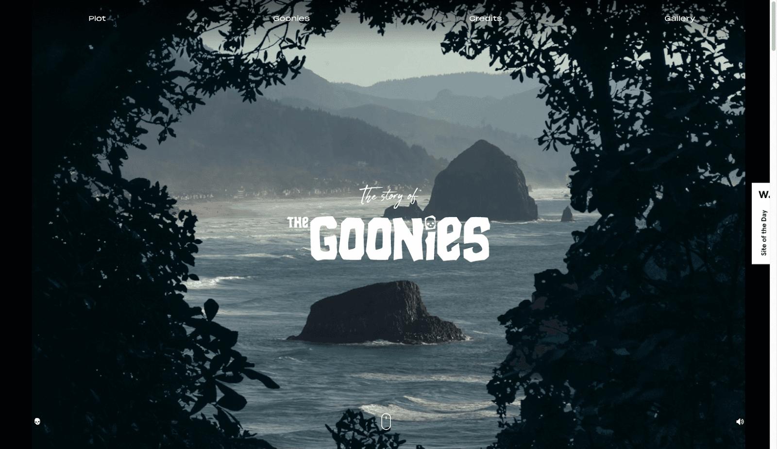 The Goonies website