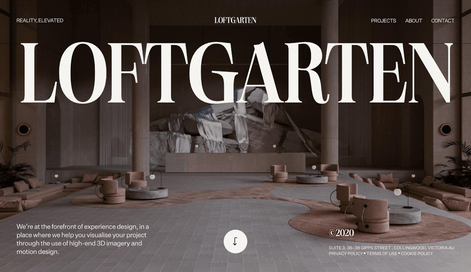 Loftgarden website