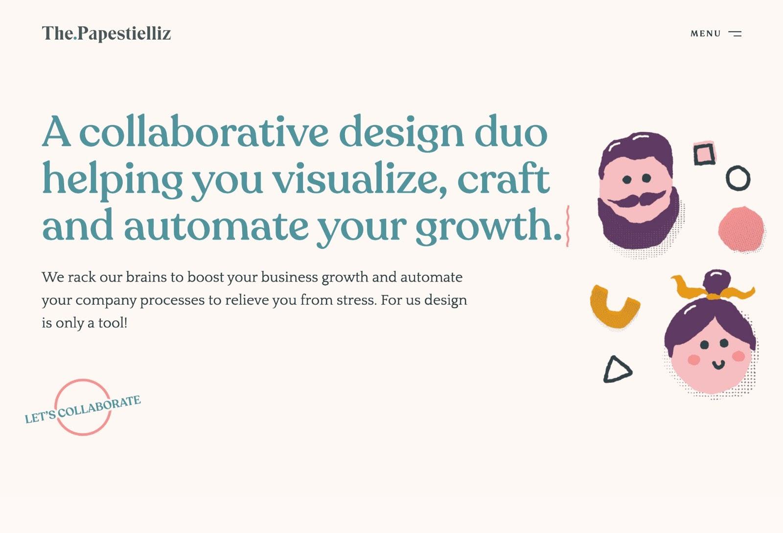 Portfolio website example (source: The.Papestielliz)