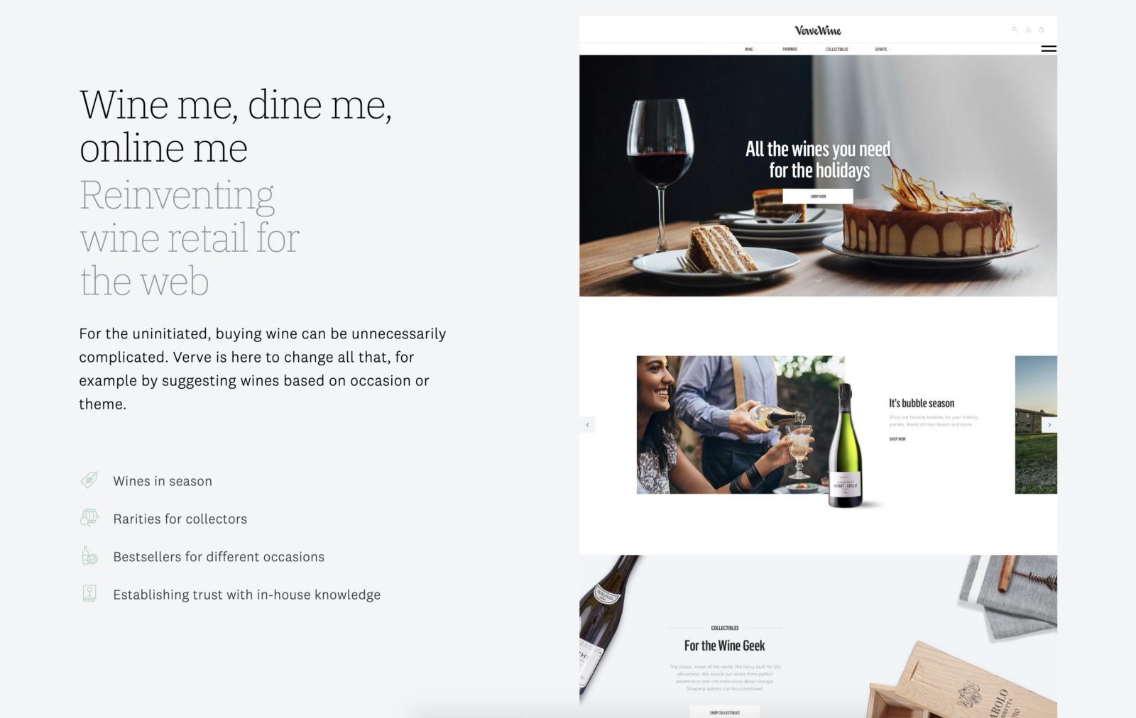 Web design portfolio example (source: Ueno)