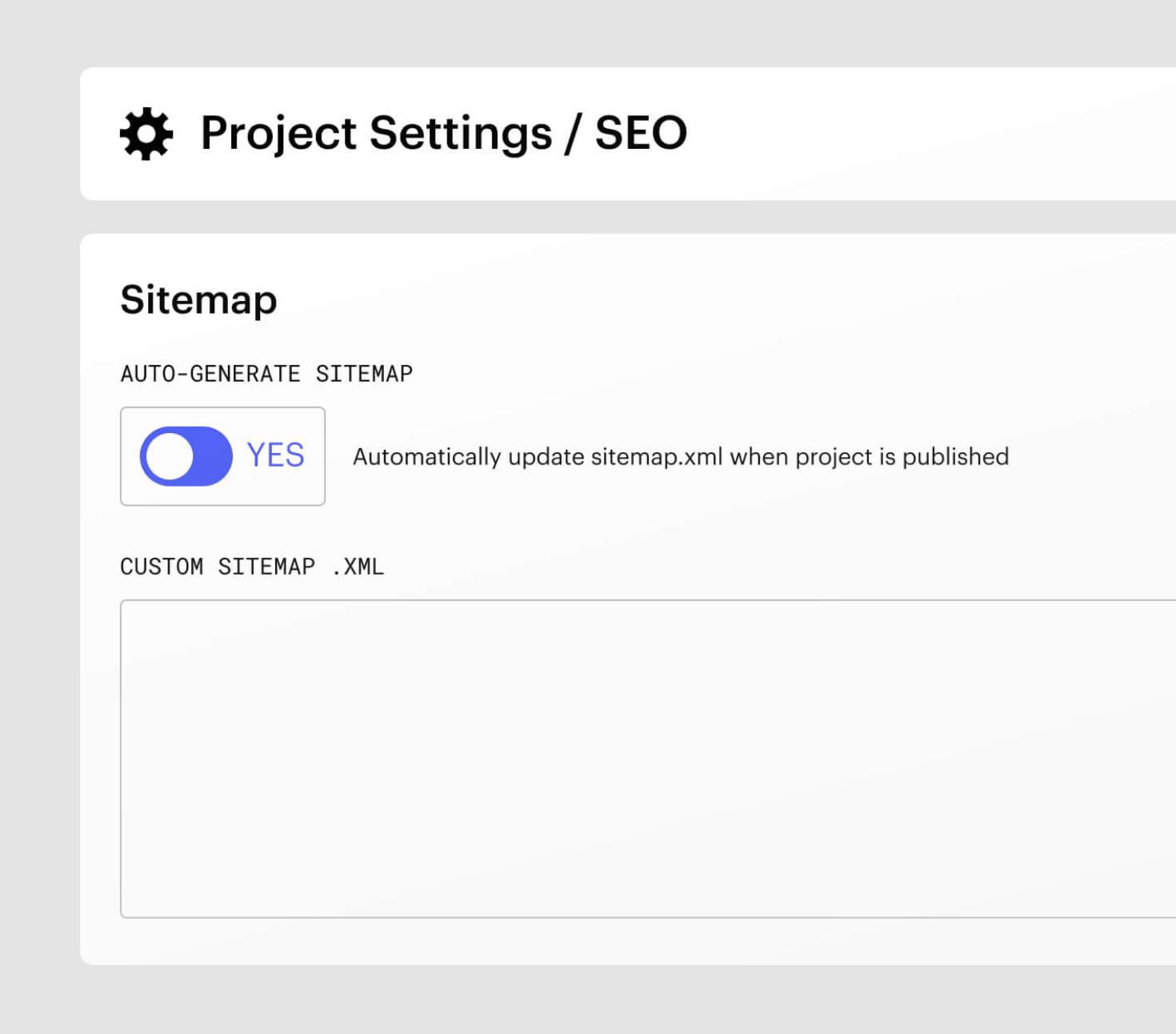 Webflow auto-generate sitemap settings