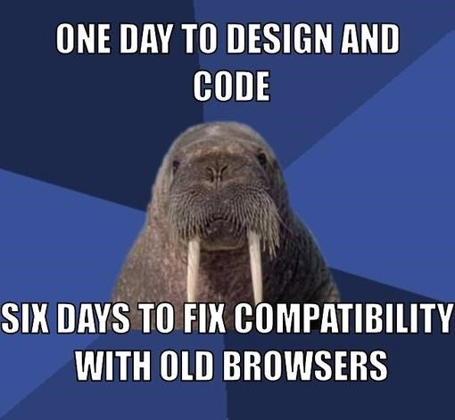One day to design an colde. Six days to fix compatibility with old browsers