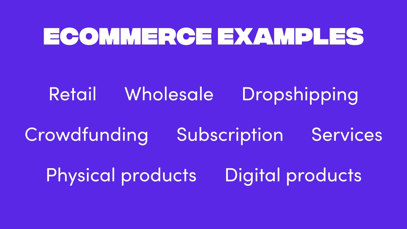 Examples of ecommerce